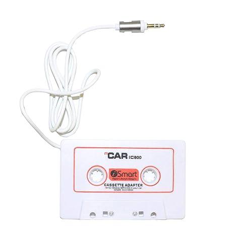 Hi-Azul Adaptador de Cassette para Coche, con Enchufe AUX DE 3.5 mm para