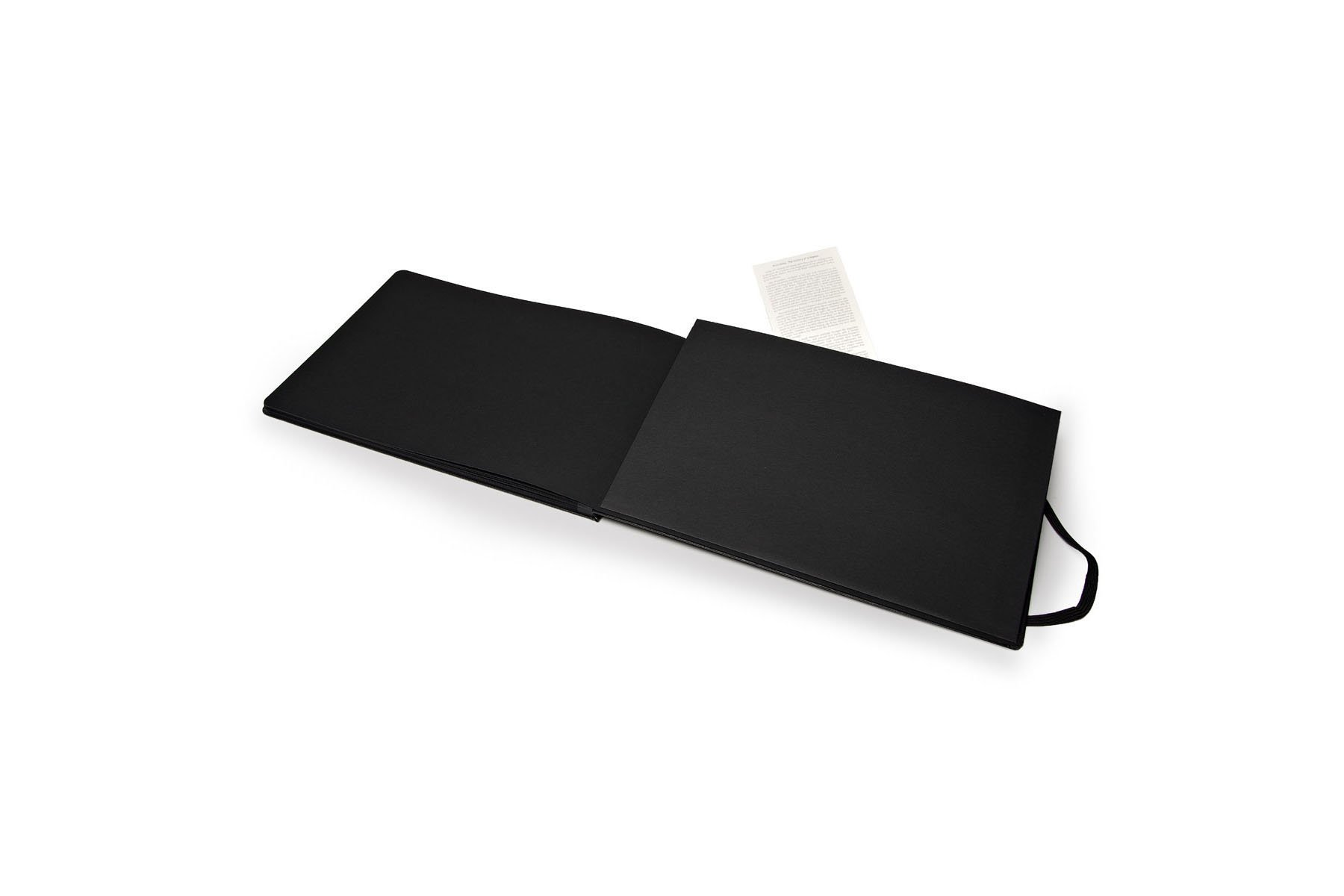Moleskine Art Black Page Album Hard Cover A4 8 25 X 11 75 Plain Blank Black