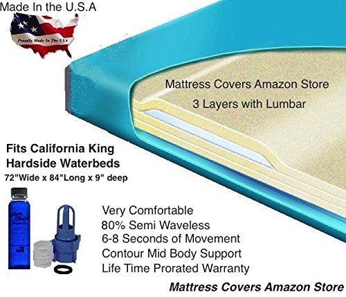 California King 80% Semi Waveless Waterbed Mattress with Lumbar Support