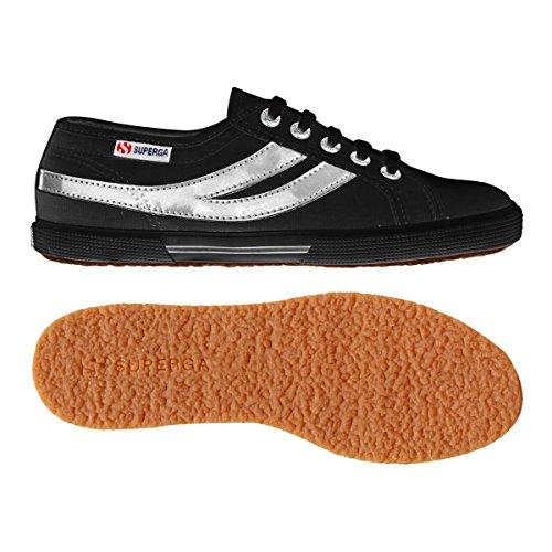 Superga 2951Cotu Sneaker Black Unisex silver rrdq74p