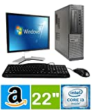 DELL Optiplex Desktop with 22in LCD Monitor (Core 2 Duo 3.0Ghz, 8GB RAM, 1TB HDD, Windows 10), Black...