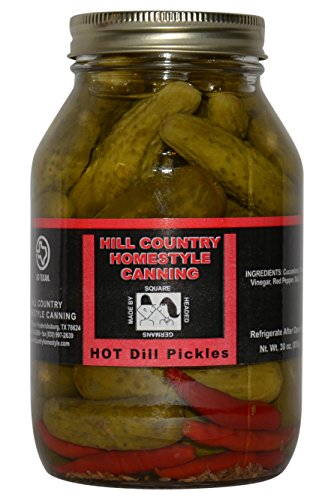 Texas Hill Country Hot Dill pickles 32oz