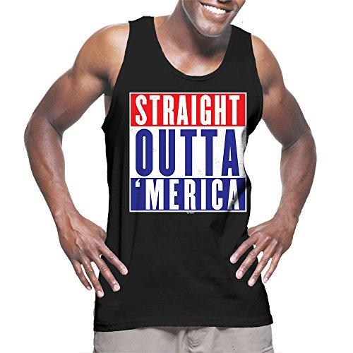 Mens-Straight-Outta-Merica-USA-American-Flag-Tank-Top-T-shirt