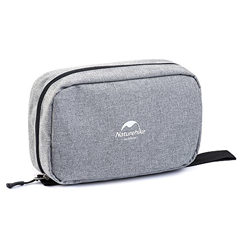 Toiletry Bag, Compact Toiletry Bag Large Storage Capacity with Hanging Hook, Waterproof Travel Organizer and Storage as Bathroom Accessories For Men & Women (Urban Grey) by Smith's Gift