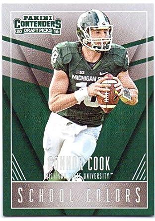 more photos f3ca0 9269d Connor Cook 2016 Panini Contenders Draft Picks School Colors ...