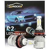 R2 COB 9004 HB1 8000LM LED Headlight Conversion Kit, Hi/Lo beam headlamp, Dual Beam Head Light, HID or Halogen Head light Replacement, 6500K Xenon White, 1 Pair- 1 Year Warranty