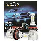 VoRock8 R2 COB 9007 HB5 8000 Lumens Led Headlight Conversion Kit, High Low Beam Headlamp, Dual Beam Head Light, Halogen Head Light Replacement, 6500K Xenon White, 1 Pair