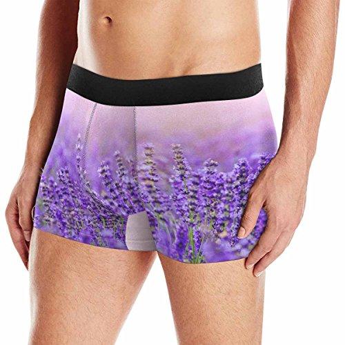 XS-3XL INTERESTPRINT Boxer Briefs Mens Underwear Lavender