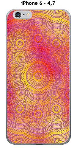 Cover Apple iPhone 6–4.7Design Mandala Rosetta oro & rosa