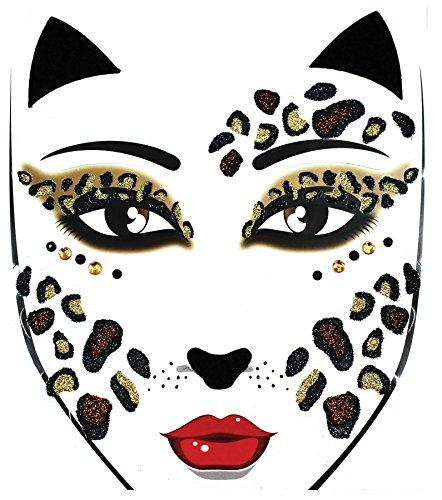 Morris Costumes - Face Decal Leopard - Standard -