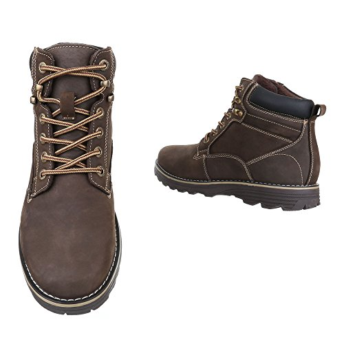 Ital-Design - Botas Desert Hombre marrón oscuro