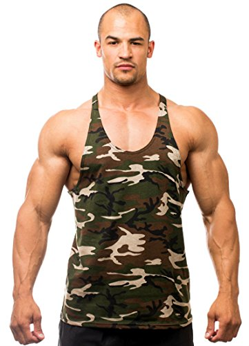 Iwearit Camoflage Mens Y Back Stringer Tank Top - Made in The USA