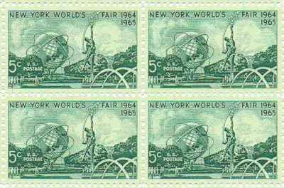 - New York's World Fair Set of 4 x 5 Cent US Postage Stamps NEW Scot 1244