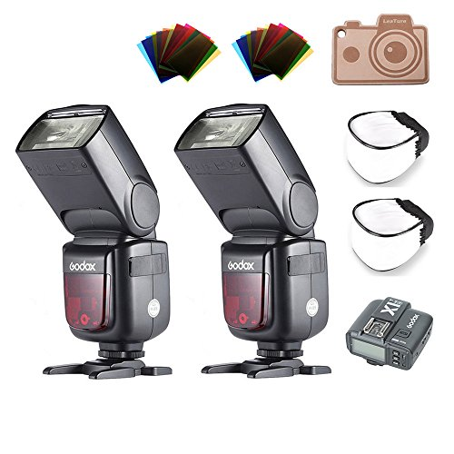 Godox V860II-N TTL Flash and X1T-N Trigger Transmitter for Nikon Cameras D800 D700 D7100 D7000 D5200 D5100 D5000 D300 D300S D3200 D3100 D3000 D200 D70S D810 D610 D90 D750 (2 x V860II-N+1 x X1T-N)