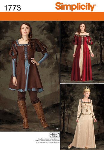 Warrior Princess Costume Pattern - Simplicity 1773 Misses' Costume Sewing Pattern, Size R5 (14-16-18-20-22)