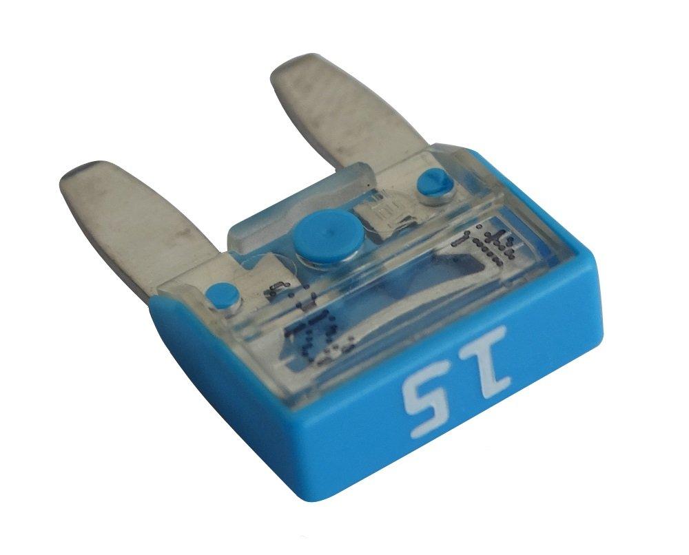10 fusibles 15A bleu 11.9mm 6V 12V 24V 36V AERZETIX SK2-C10284-KU1K23