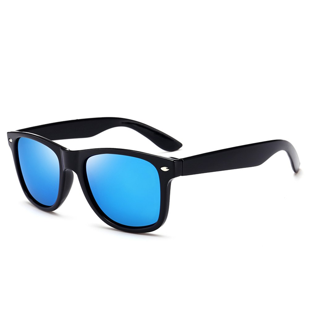 f369f24b7ba Amazon.com  Wayfarer Polarized Sunglasses for Men Women Outdoor Square  Sunglasses Driving Glasses Shades for Men  Clothing