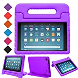 MENZO Case for Amazon All-New Fire HD 8 2018/2017 - Shockproof Convertible Handle Light Weight Protective Stand Cover Kids Case for Fire HD 8' (2017 and 2018 Releases) Tablet, Purple