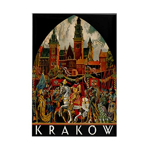 Rectangle Advertising Magnets (CafePress - Vintage Krakow Poland Travel - Rectangle Magnet, 2