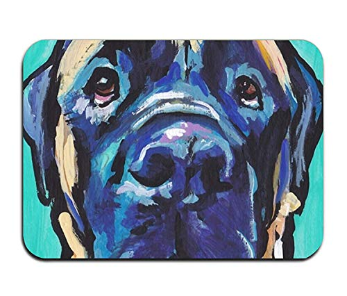 D Print Door Mat English Mastiff Bright Colorful Pop Dog Art Welcome Doormat for Indoor Outdoor ()