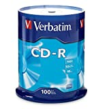Electronics : Verbatim CD-R 700MB 80 Minute 52x Recordable Disc - 100 Pack Spindle (FFP)
