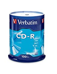 Verbatim CD-R 700MB 52X with Branded Surface, 100-Disc Spindl...