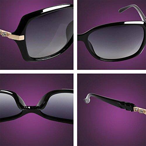 Moda De De Gafas Diamante Cara Imitación WX Sol Color Purple Anti Redonda Gafas Sra Beat Rojo Polarizada xin Luz Street UV Tq7qIPB