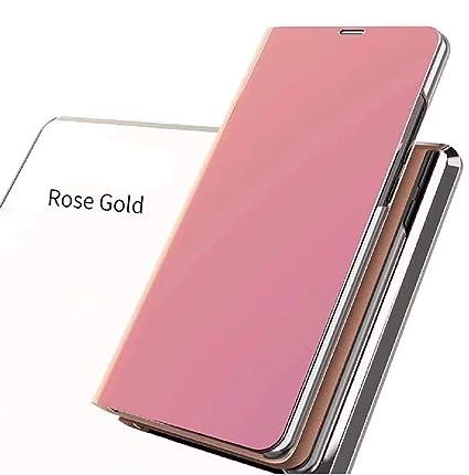 online store 8b77d 8cf5f Amazon.com: Oppo A5/A3s/A35 Flip Case, Portable Smart Mirror Window ...