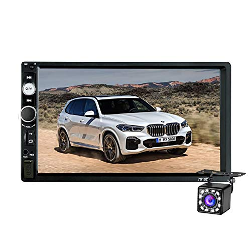 Double Din Car Stereo Bluetooth, 7 inch Touch TFT Digital Screen Car Multimedia MP5 Player Support SD/USB/AUX,Car Audio…