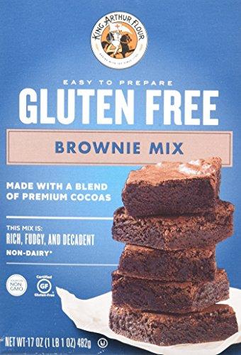 King Arthur Mix Brownie Gf, 17 OZ (Pack of 6)