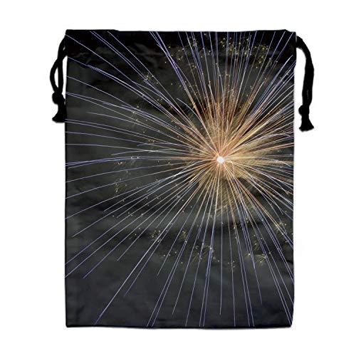 1 Fireworks New Years Eve Bright Light Firework Drawstring Backpack kids String Cinch Tote Bag