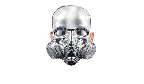 BESTPR1CE No Face Chrome Mask Costume Accessory
