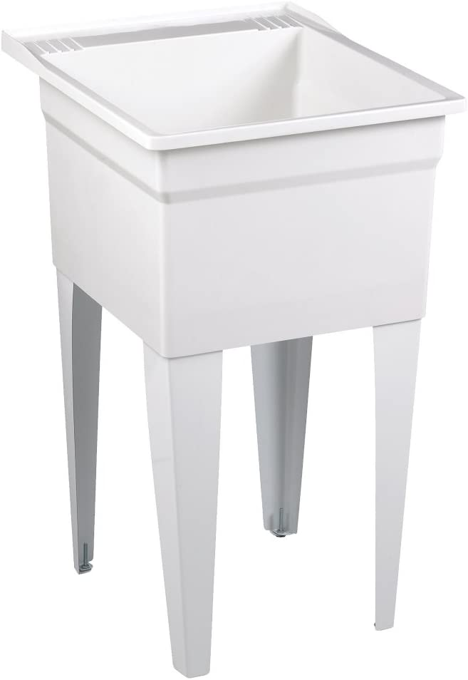 American Standard FL7100 Fiat Showers Molded Stone Appliance Depth Laundry Tub, White