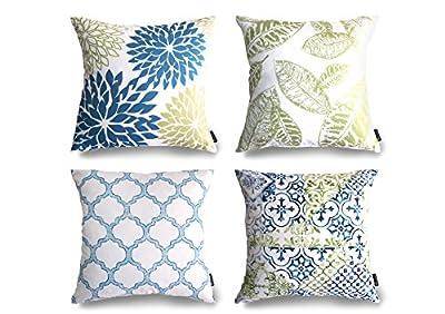 Phantoscope New Living Blue&Green Decorative Throw Pillow Case Cushion Cover