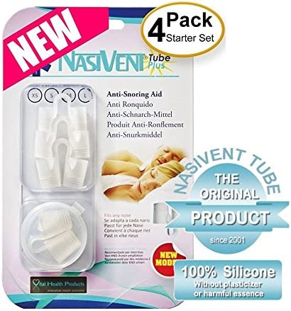 Nasivent Tube Plus Set Of 4 Anti Snoring And Sleep Apnea For Sleep Better Recommended By Medicos Amazon Co Uk Sports Outdoors