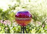 Garden Treasures 11.8-in Red Blown Glass Gazing