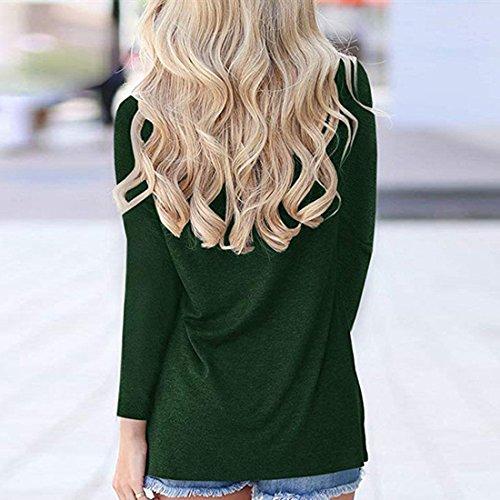moichien Casual Rainbow Felpa Pullover O verde Ai Stampa Donna maniche lunghe Collo 1qw7d