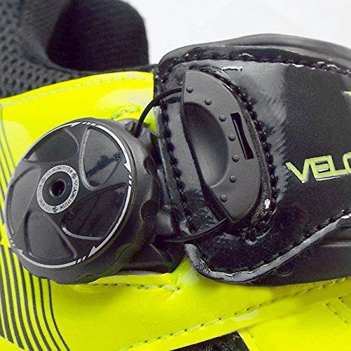VeloChampion Zapatillas de ciclismo (par) VCX con planta de fibra de carbono - Cycling Road Shoes Fluoro Yellow/Black