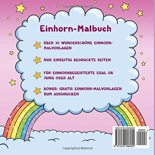 Einhorn Malbuch Für Kinder Und Erwachsene Bonus