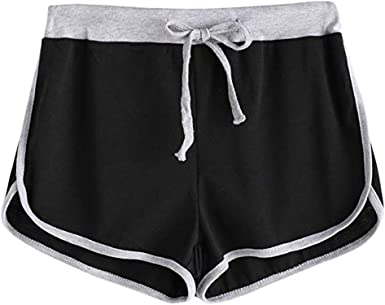 Hessimy Womens Athletic Workout Gym Yoga Running Fitness Sports Shorts for Women Lounge Short Pants