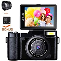Digital Camera Camcorder, Weton Full HD 1080P 24.0MP...