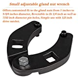 Large & Small Adjustable Gland Nut Spanner Wrench