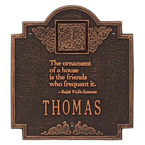 (JMiY Emerson Monogram Personalized Plaque - Perfect for Wedding, Anniversary, or House Warming Gift (Oil Rubbed Bronze))