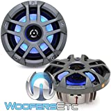 Memphis MXA80L 8 60W RMS 2-Way Marine Grade Construction Coaxial Speakers with RGB LED
