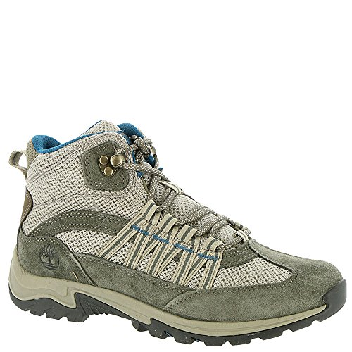 Timberland A1NOV Women's Mt. Maddsen Lite Mid Hiking Boots, Grey Full-Grain - 8 M by Timberland
