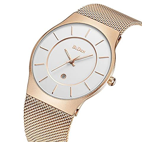 Watches,Mens watches,Women Watches,Fashion Casual,Waterproof Analog Quartz Dress Wrist Watch With Mesh Milanese Bracelet (Watch Waterproof Prime)