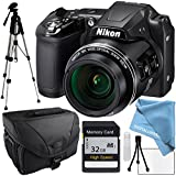 Nikon COOLPIX L840 Black, 32GB SD Memory Card, Camera Case, Full Size Tripod, Lens Cleaning Kit, LCD Screen protector and Table Top Tripod