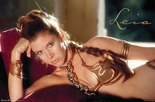[Trends International Princess Leia Star Wars Slave Costume Wall Poster 22.375'' x 34''] (Star Wars Princess Leia Slave)