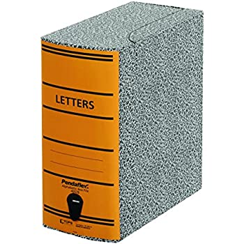 Pendaflex 40578 File Storage Box, Letter, Binder Board, Black/Orange