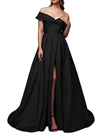 Z Sexy High Split Prom Dresses Off Shoulder Long Formal Evening Dresses  Party Gowns for Women at Amazon Women s Clothing store  fb5ade29a